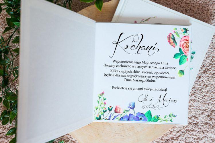 Księga gości na wesele, różowe i niebieskie róże 201_31