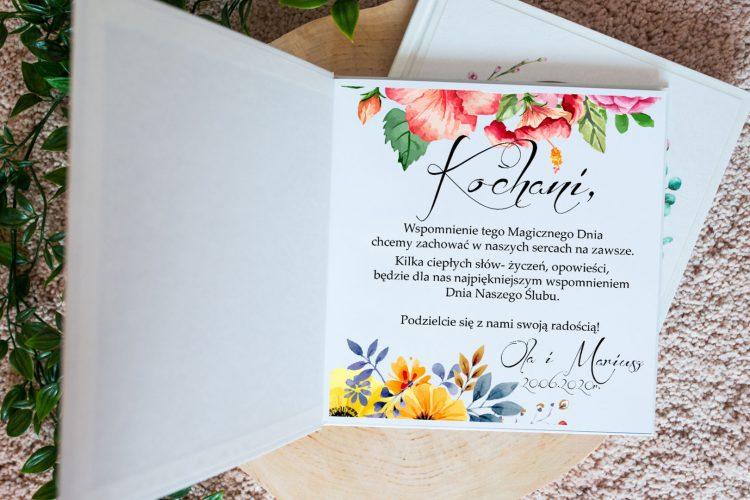 Księga gości na wesele, wiosenne kwiaty, peonie, maki 201_29