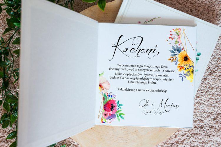 Księga gości na wesele, geometryczne, peonie, maki 201_B29