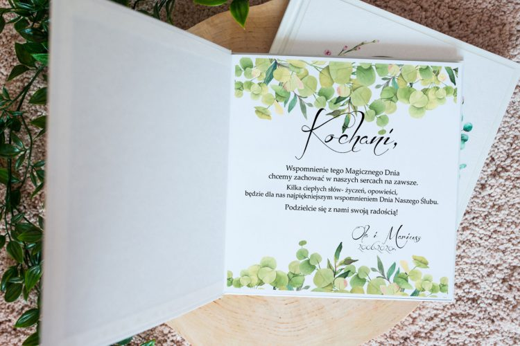 Księga gości eukaliptus