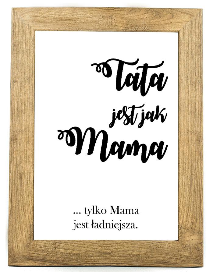 Prezent na dzień ojca, taty, plakat, pamiątka DO2