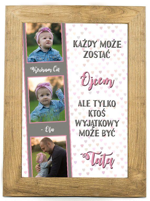 Prezent na dzień ojca, taty, plakat, pamiątka DO7