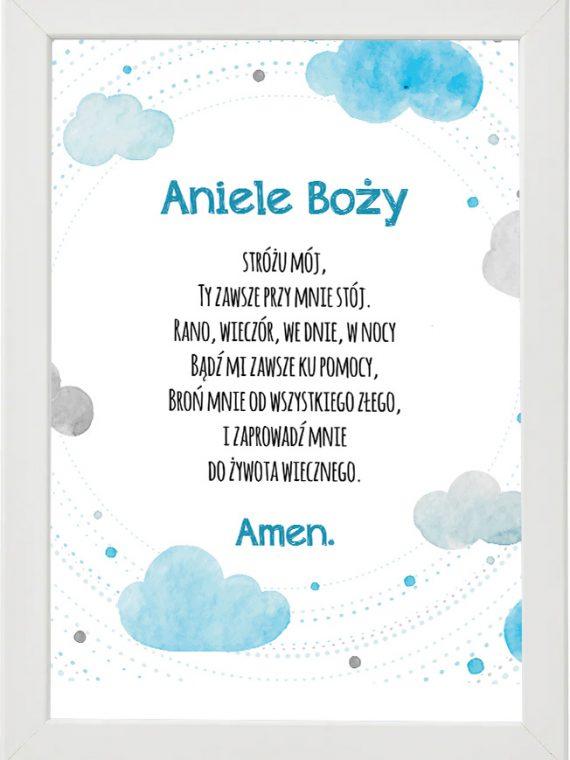 Plakat, modlitwa do pokoju dziecięcego M1