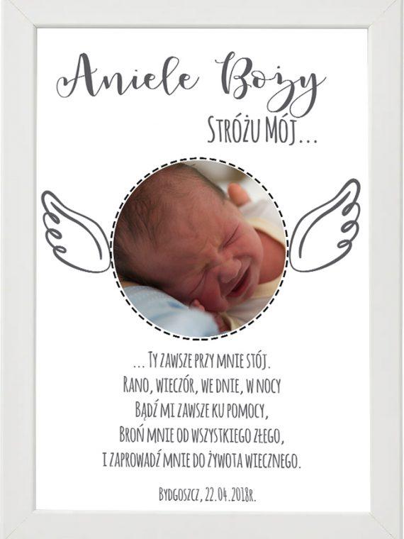 Plakat, modlitwa do pokoju dziecięcego M2