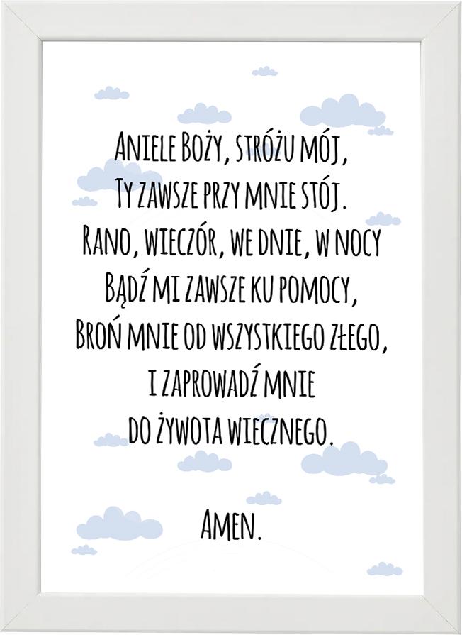 Plakat, modlitwa do pokoju dziecięcego M3