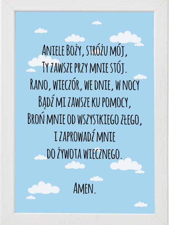 Plakat, modlitwa do pokoju dziecięcego M4