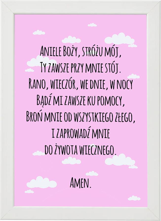 Plakat, modlitwa do pokoju dziecięcego M5