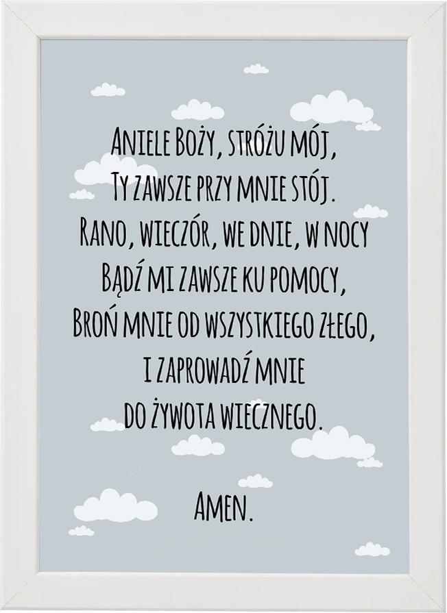 Plakat, modlitwa do pokoju dziecięcego M6
