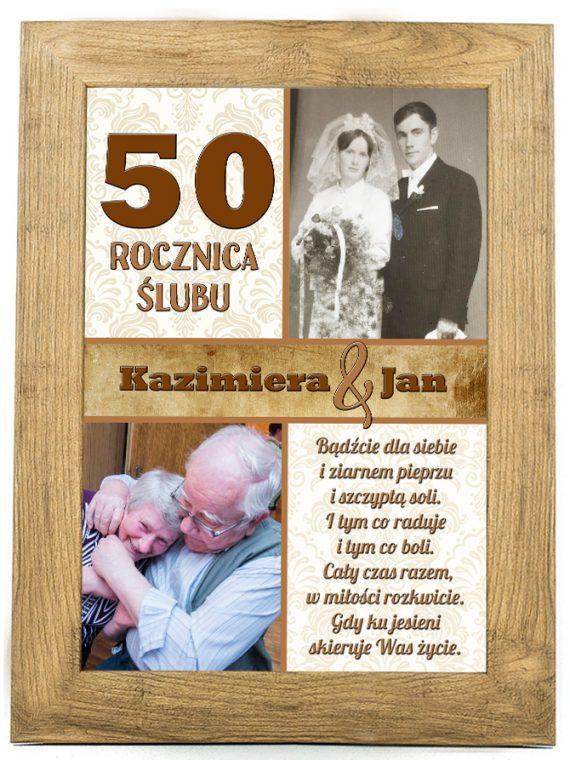 Plakat, prezent na ślub, rocznicę ślubu 50 rocznica SR1