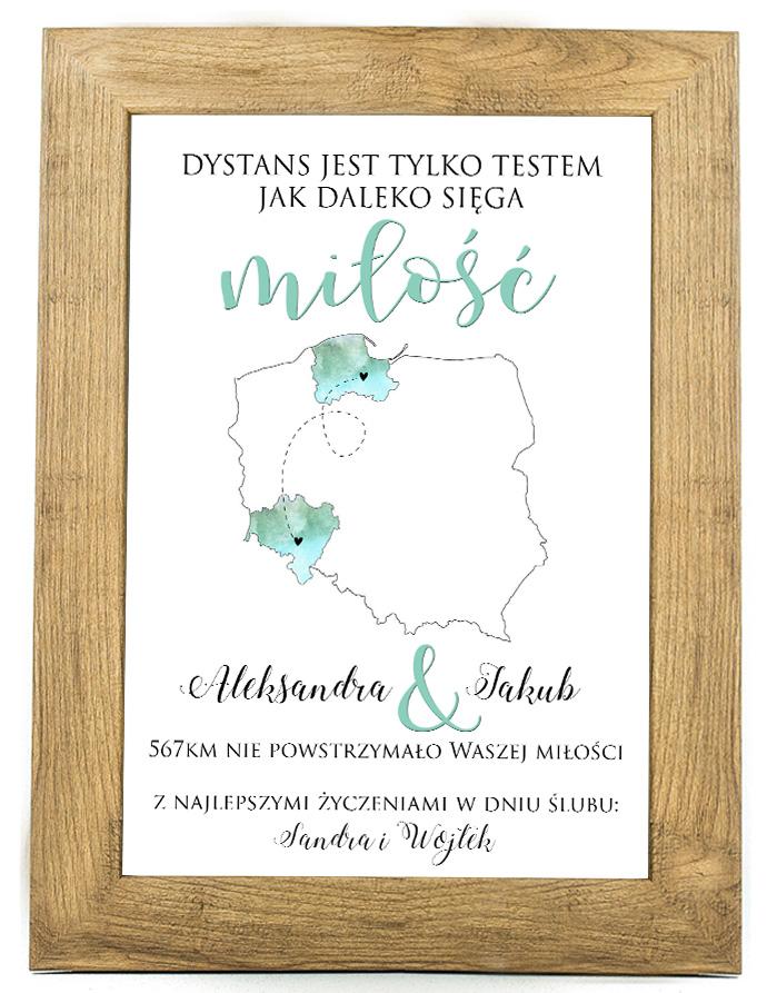 Plakat, prezent na ślub, rocznicę ślubu 30 rocznica SR3