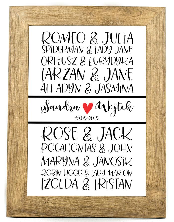 Plakat, prezent na ślub, rocznicę ślubu 30 rocznica SR4