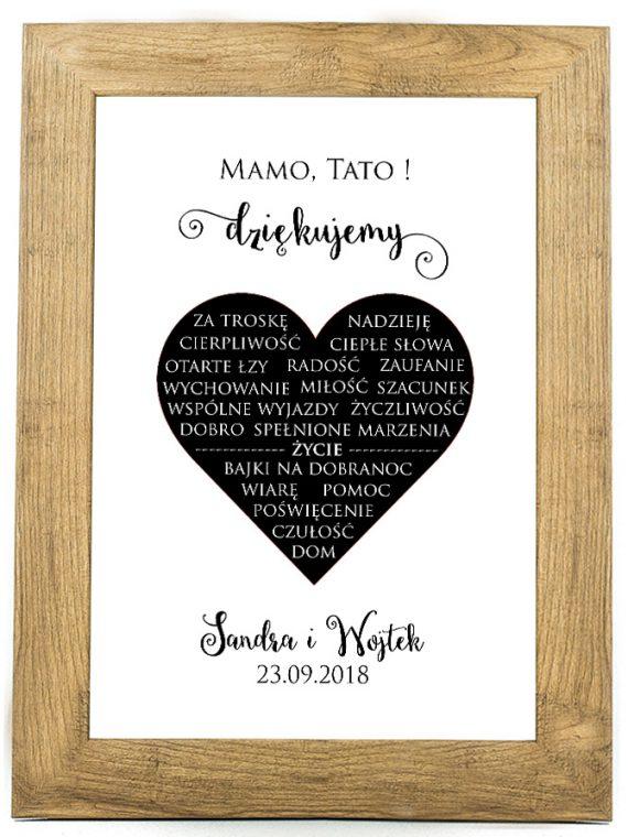 Plakat, prezent na ślub, rocznicę ślubu 30 rocznica SR7