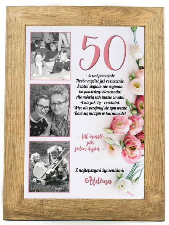 Prezent na 30, 40, 50, 80 urodziny - plakat U3