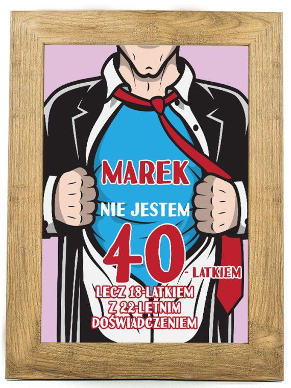 Prezent na 30, 40, 50, 80 urodziny - plakat U4