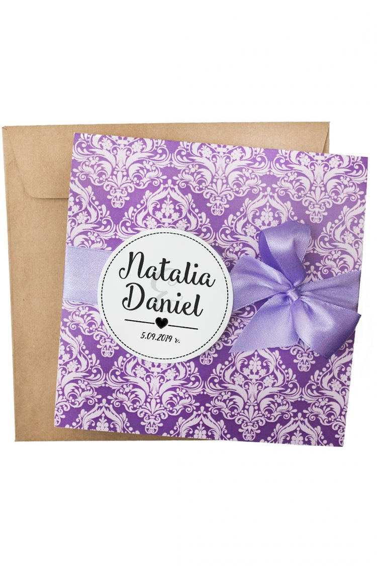 zaproszenia ślubne ornament kolor fiolet 200_5