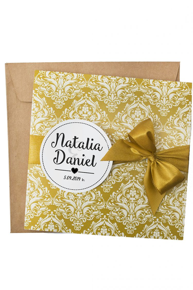 zaproszenia ślubne ornament kolor złoty 200_10