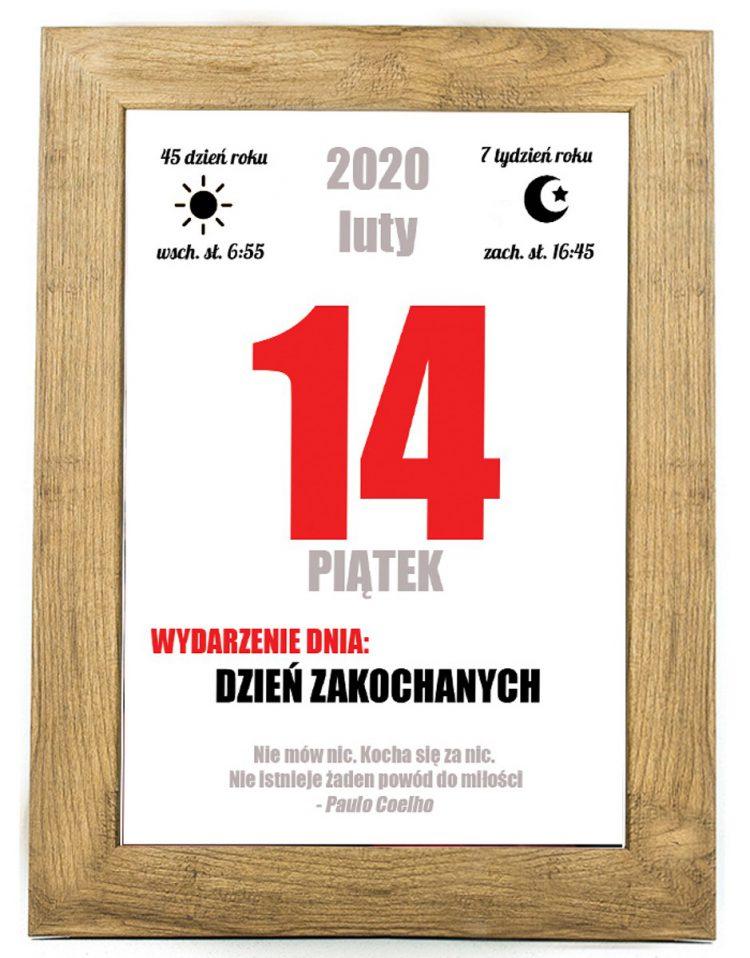 Prezent na walentynki, plakat dla bliskiej osoby W16