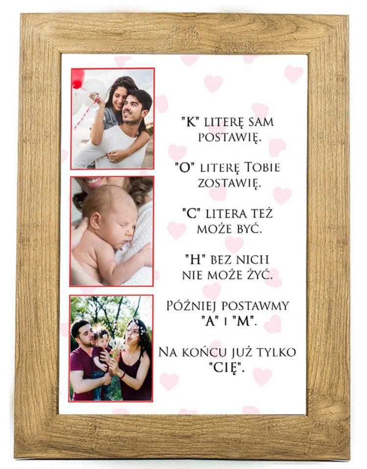 Prezent na walentynki, plakat dla bliskiej osoby W18