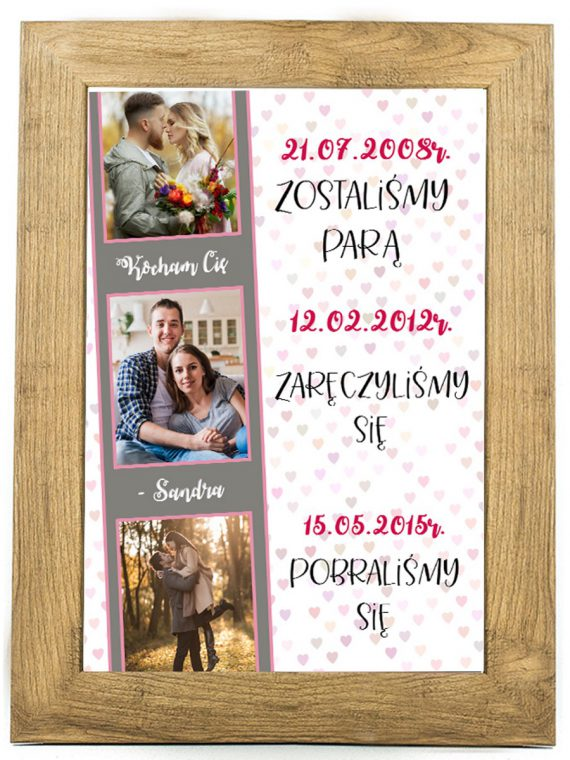 Prezent na walentynki, plakat dla bliskiej osoby W20