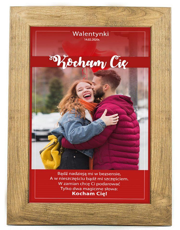 Prezent na walentynki, plakat dla bliskiej osoby W4