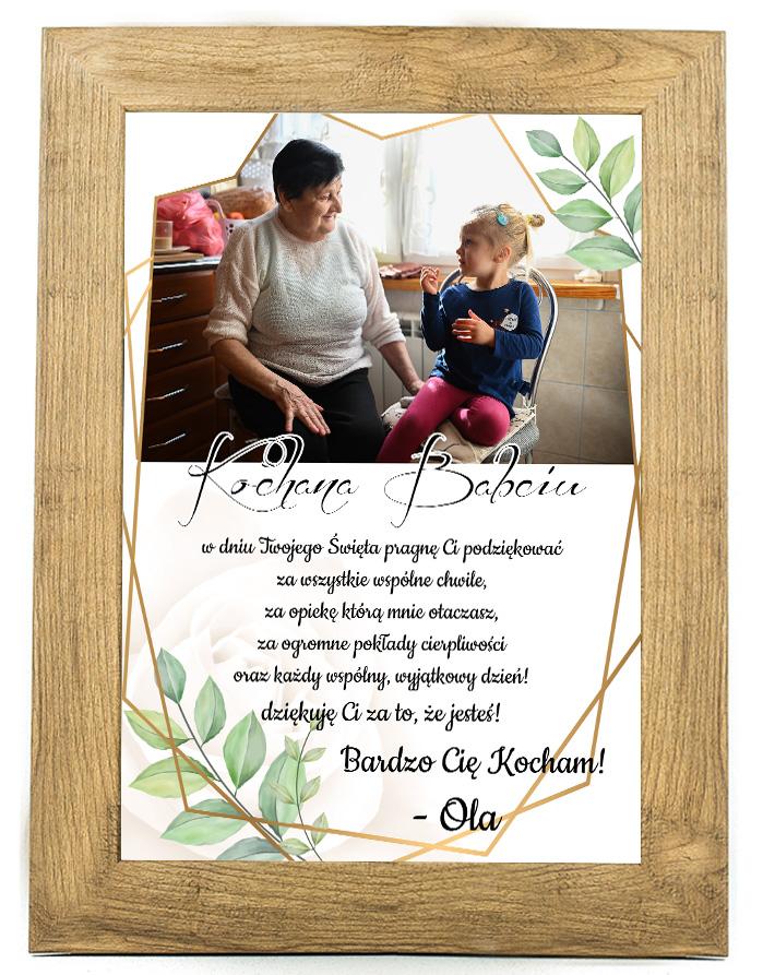 Prezent na dzień Babci/Dziadka plakat od wnuków BD36