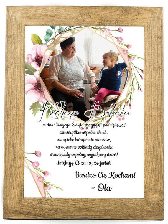 Prezent na dzień Babci/Dziadka plakat od wnuków BD37