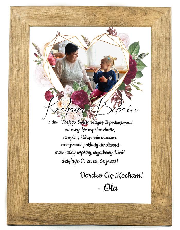 Prezent na dzień Babci/Dziadka plakat od wnuków BD38