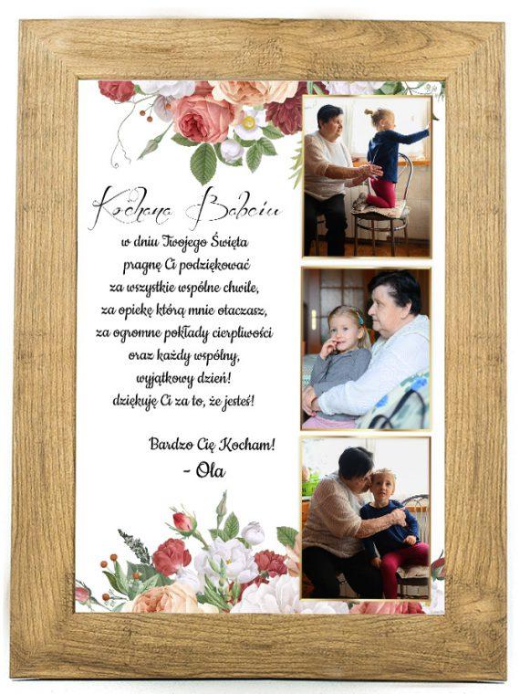 Prezent na dzień Babci/Dziadka plakat od wnuków BD39
