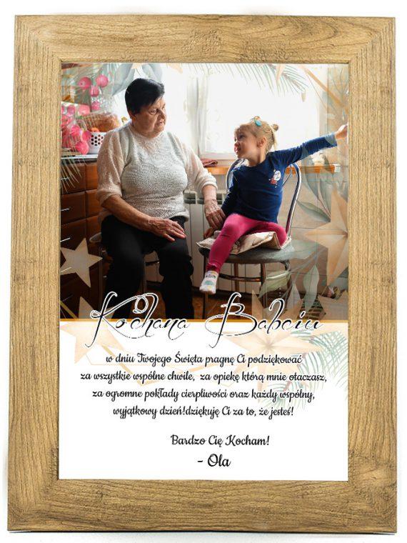 Prezent na dzień Babci/Dziadka plakat od wnuków BD40
