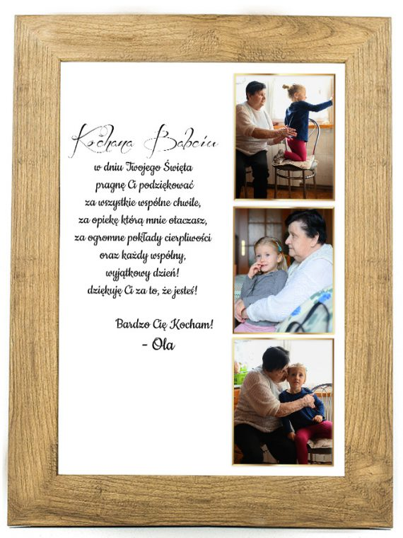 Prezent na dzień Babci/Dziadka plakat od wnuków BD41