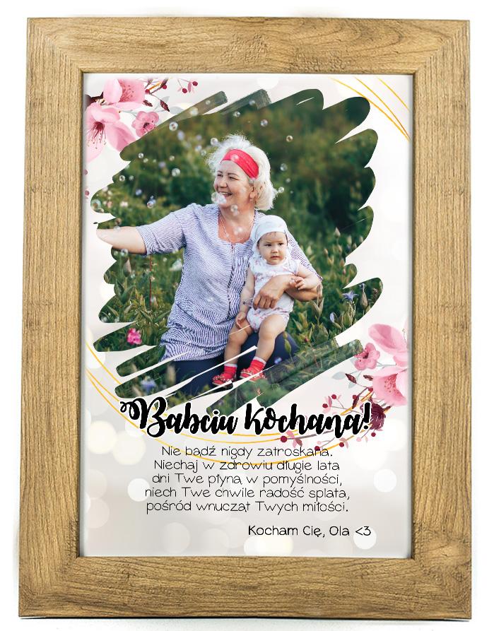 Prezent na dzień Babci/Dziadka plakat od wnuków BD45