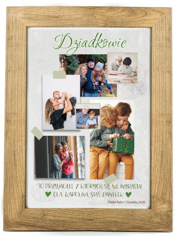 Prezent na dzień Babci/Dziadka plakat od wnuków BD47