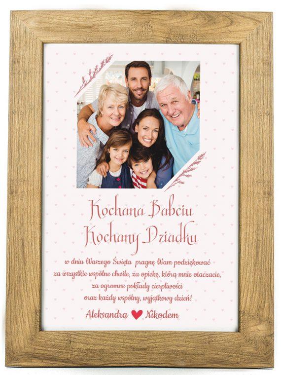 Prezent na dzień Babci/Dziadka plakat od wnuków BD48