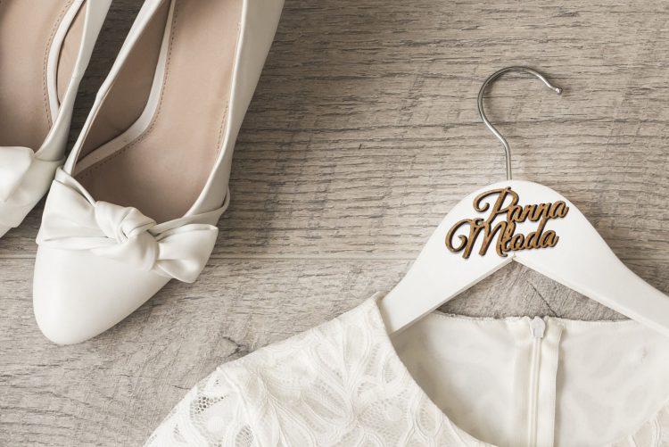 Wieszaki ślubne z napisem 3D